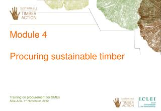 Module 4  Procuring sustainable timber