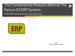 The Fundamental Reasons Behind The Failure Of ERP System
