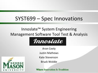 SYST699 – Spec Innovations