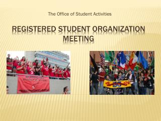 Registered Student Organization Meeting