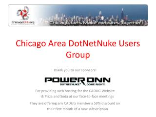 Chicago Area DotNetNuke Users Group