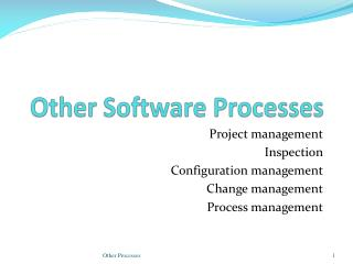 Other Software Processes