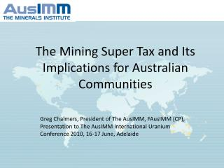 The Mining Super Tax and Its Implications for Australian Communities