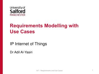 Requirements Modelling with Use Cases
