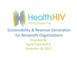 Sustainability & Revenue Generation for Nonprofit Organizations