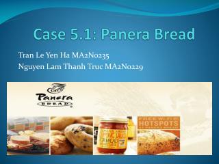 Case 5.1:  Panera  Bread