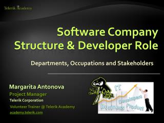 Software Company Structure & Developer Role