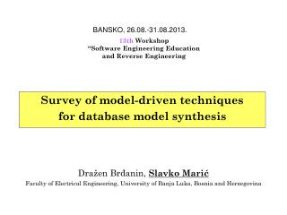 Survey of model-driven techniques for database model synthesis