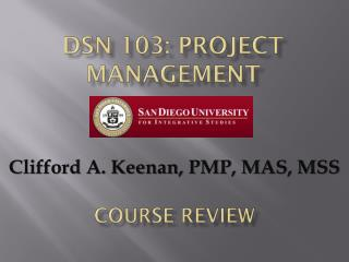 DSN 103: Project Management