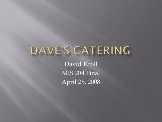 Dave's Catering