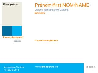 Prénom/first NOM/NAME