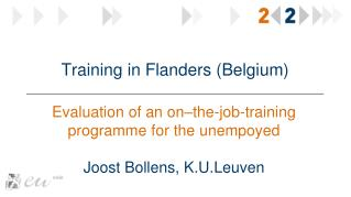 Training in  Flanders  ( Belgium )