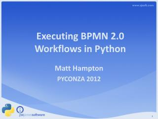 Executing BPMN 2.0  Workflows in Python