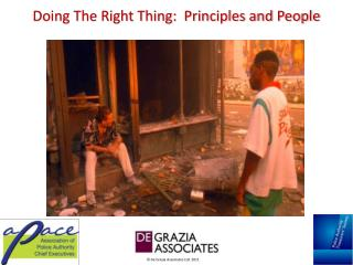 Doing The Right Thing: Principles and People