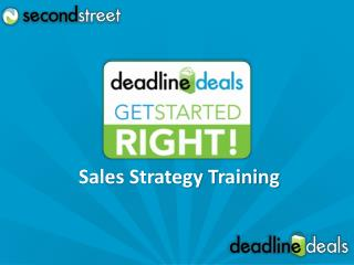 Sales Strategy Training