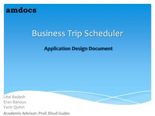 Business Trip Scheduler Application Design Document
