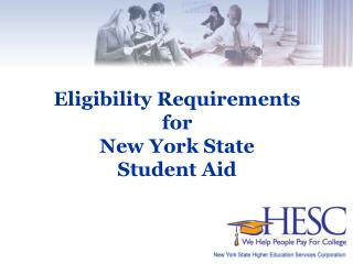 Eligibility Requirements for New York State  Student Aid