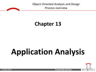 Chapter 13 Application Analysis