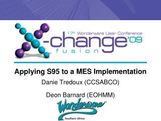 Applying S95 to a MES Implementation