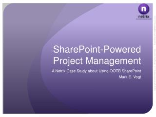 SharePoint-Powered Project Management