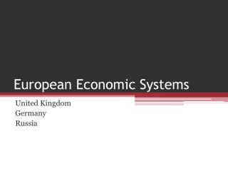 European Economic Systems