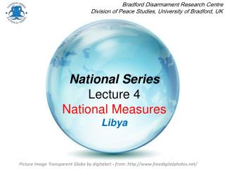 National Series Lecture 4  National Measures Libya