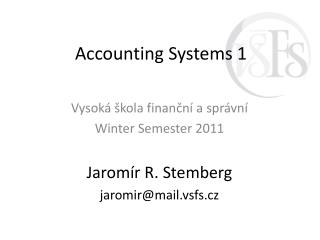 Accounting Systems  1
