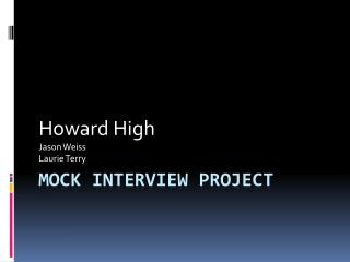 Mock Interview Project