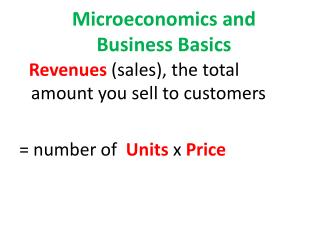 Microeconomics and  Business Basics