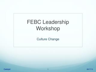 FEBC Leadership Workshop