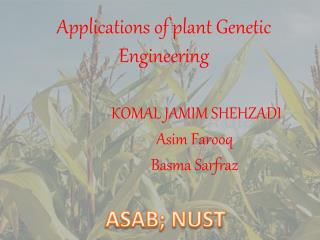 Applications of plant Genetic Engineering
