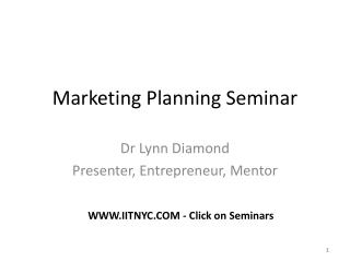 Marketing Planning Seminar