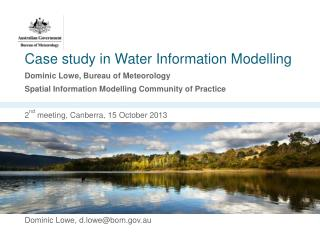 Case study in Water Information Modelling