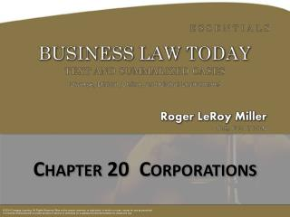 Chapter 20  Corporations