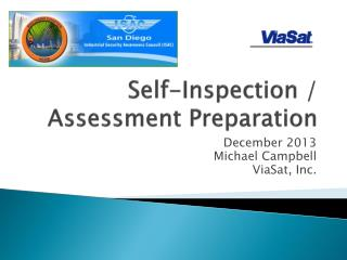 Self-Inspection / Assessment Preparation