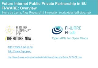 Future  Internet Public Private Partnership in  EU FI-WARE: Overview