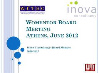 Womentor  Board Meeting Athens, June 2012