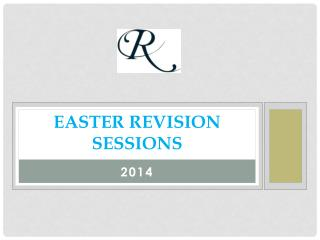 EASTER REVISION Sessions