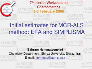 Initial estimates for MCR-ALS method: EFA and SIMPLISMA