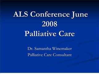 als conference june 2008  palliative care