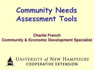 Community Needs Assessment Tools