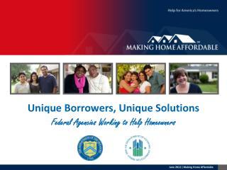 Unique Borrowers, Unique Solutions