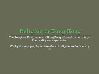 Religion in Hong Kong