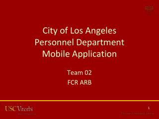 City of Los Angeles Personnel Department Mobile Application