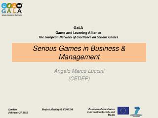 Serious Games in Business & Management