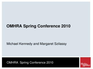 OMHRA Spring Conference 2010