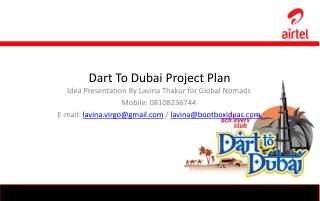 Dart To Dubai Project Plan