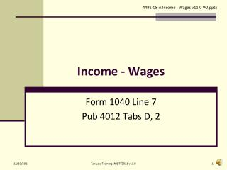 Income - Wages