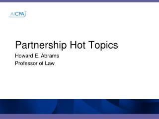 Partnership Hot Topics