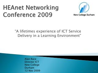 HEA n et  Networking Conference 2009